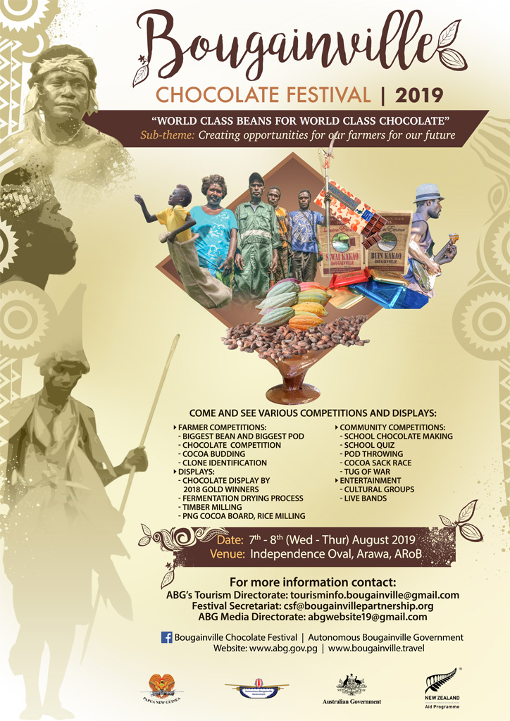 The Bougainville Chocolate Festival, August 7-8 2019